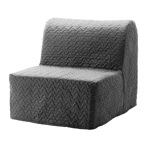 IKEA LYCKSELE MURBO chair-bed Comfortable and firm foam mattress for use every night.