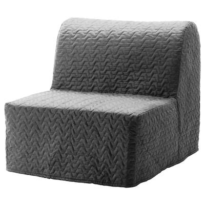LYCKSELE MURBO chair-bed Vallarum grey 80 cm 100 cm 87 cm 60 cm 39 cm 80 cm 188 cm 188 cm 80 cm 10 cm