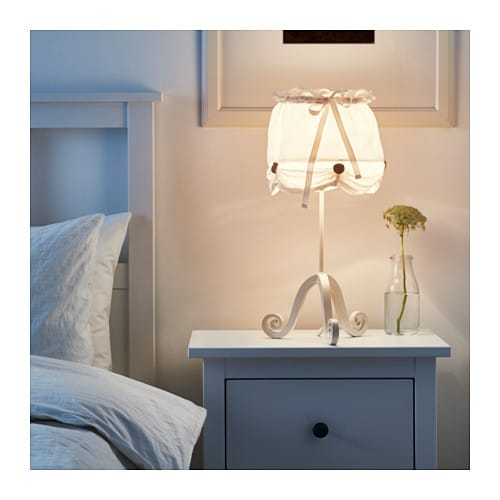 IKEA LYRIK table lamp Brings a softness to the room.