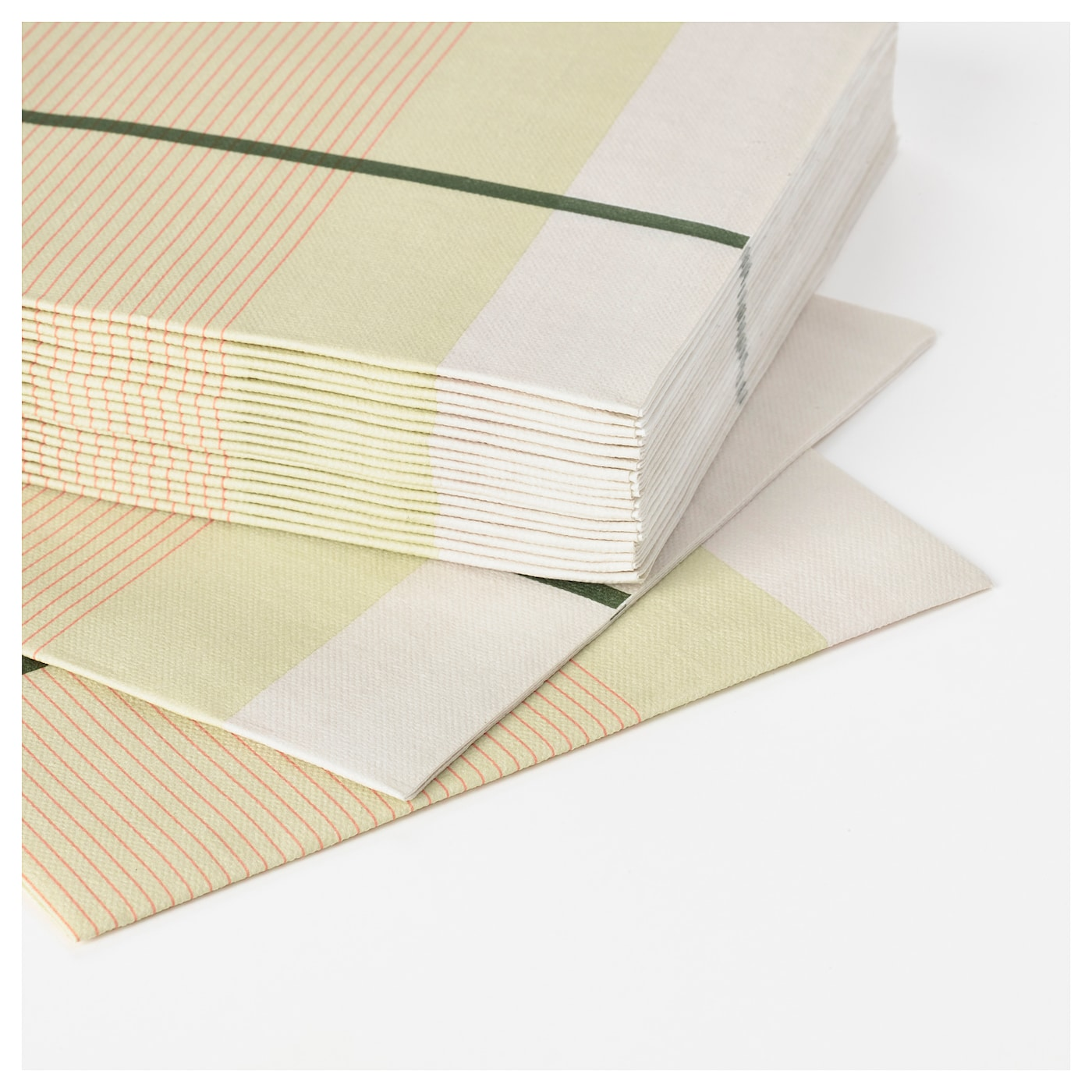 IKEA LYSKRAFT paper napkin Has a paper quality that looks and feels like textile napkins.