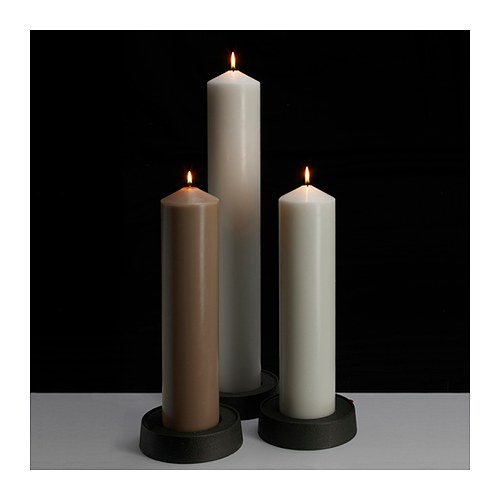 IKEA LYSTER block candle holder