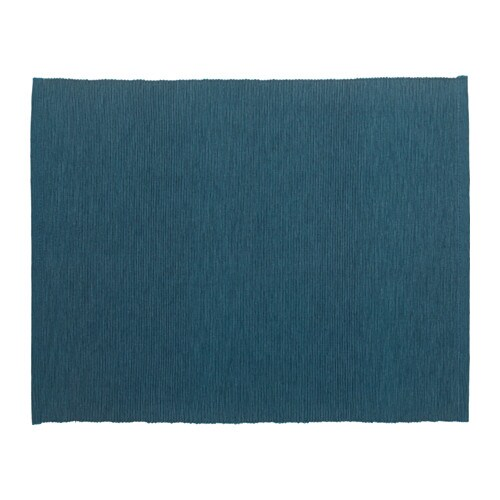 IKEA MÄRIT place mat Colours are retained wash after wash thanks to the yarn-dyed cotton.