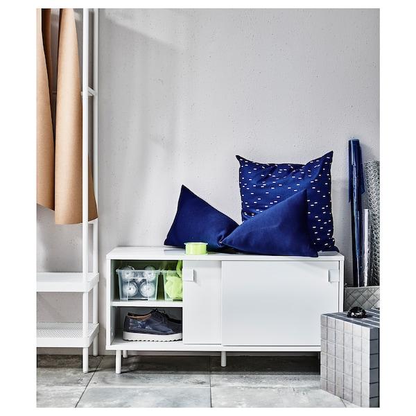 MACKAPÄR bench with storage compartments white 27 cm 100 cm 35 cm 51 cm