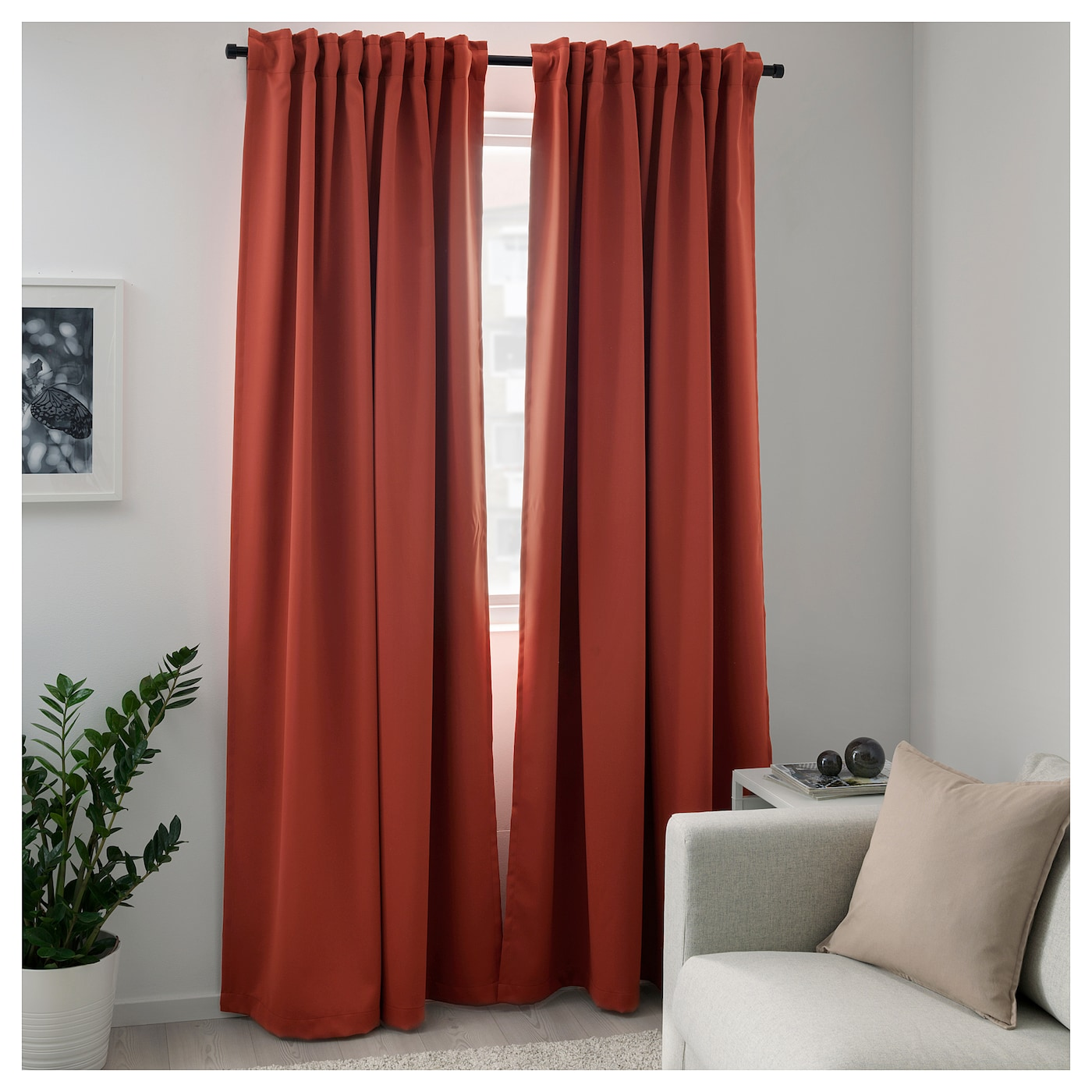 IKEA MAJGULL block-out curtains, 1 pair