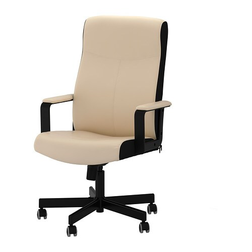 IKEA MALKOLM swivel chair You sit comfortably since the chair is adjustable in height.