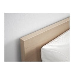Malm Bed Frame High W 2 Storage Boxes White Stained Oak Veneer Lur Y 160x200 Cm Ikea