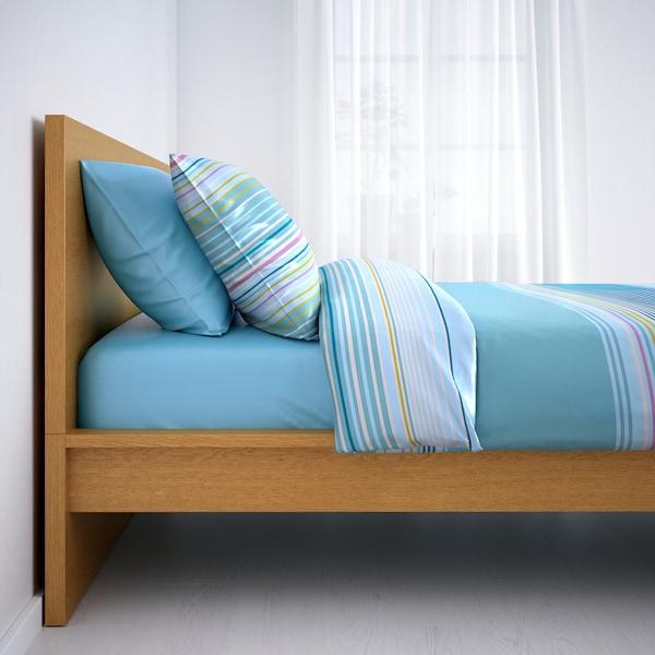 MALM bed frame, high oak veneer/Luröy 199 cm 107 cm 38 cm 100 cm 190 cm 90 cm
