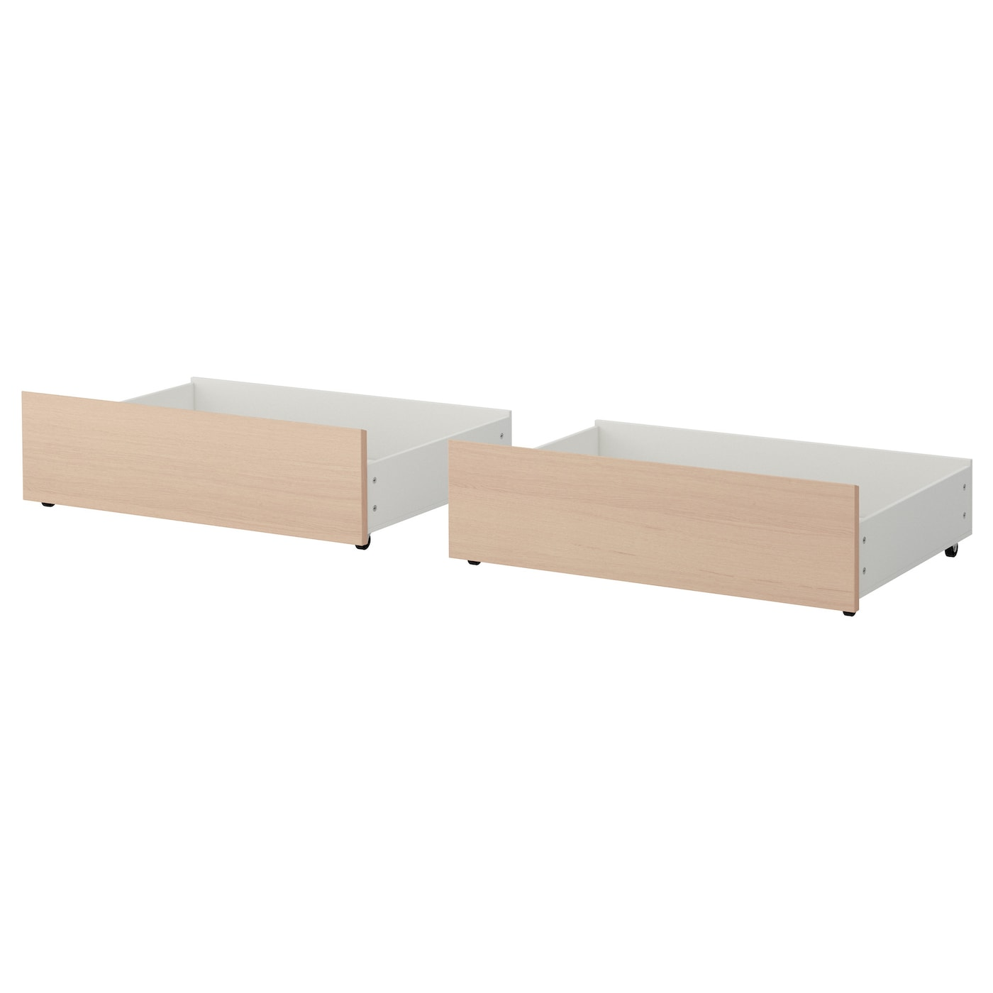 malm bed storage box for high bed frame white stained oak veneer single double ikea. Black Bedroom Furniture Sets. Home Design Ideas