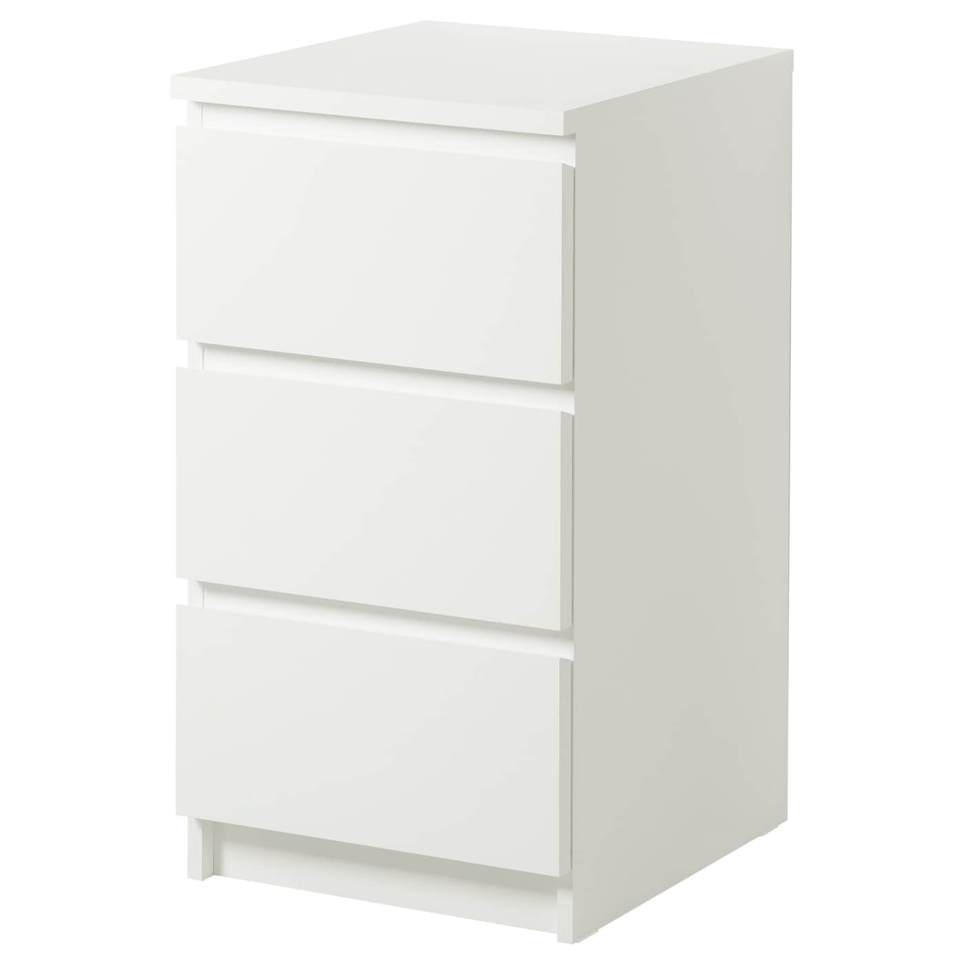 Malm chest of 3 drawers white 40x78 cm ikea for Kommode 100 x 60