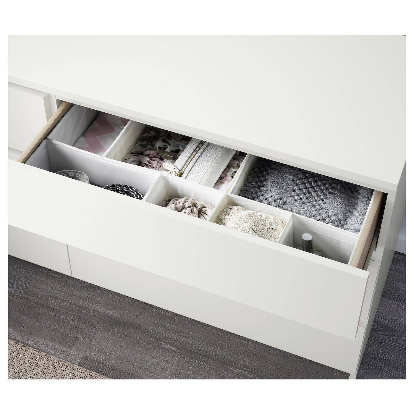 Malm Chest Of 6 Drawers White 160x78 Cm Ikea