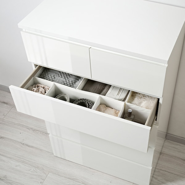 Malm Chest Of 6 Drawers High Gloss