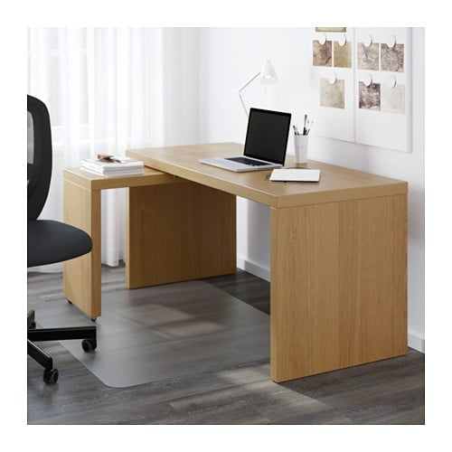Malm desk with pull out panel oak veneer 151x65 cm ikea - Mesa auxiliar malm ikea ...