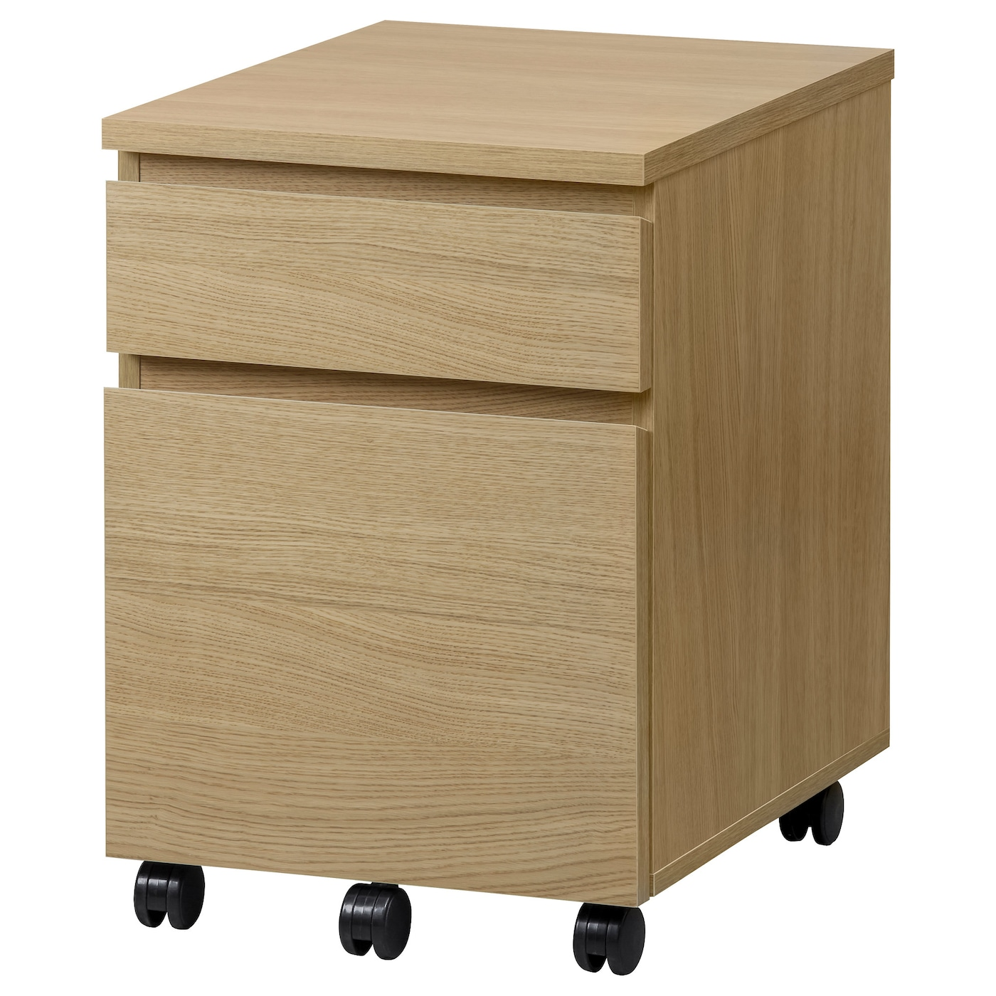 malm drawer unit on castors oak effect 42x59 cm ikea. Black Bedroom Furniture Sets. Home Design Ideas