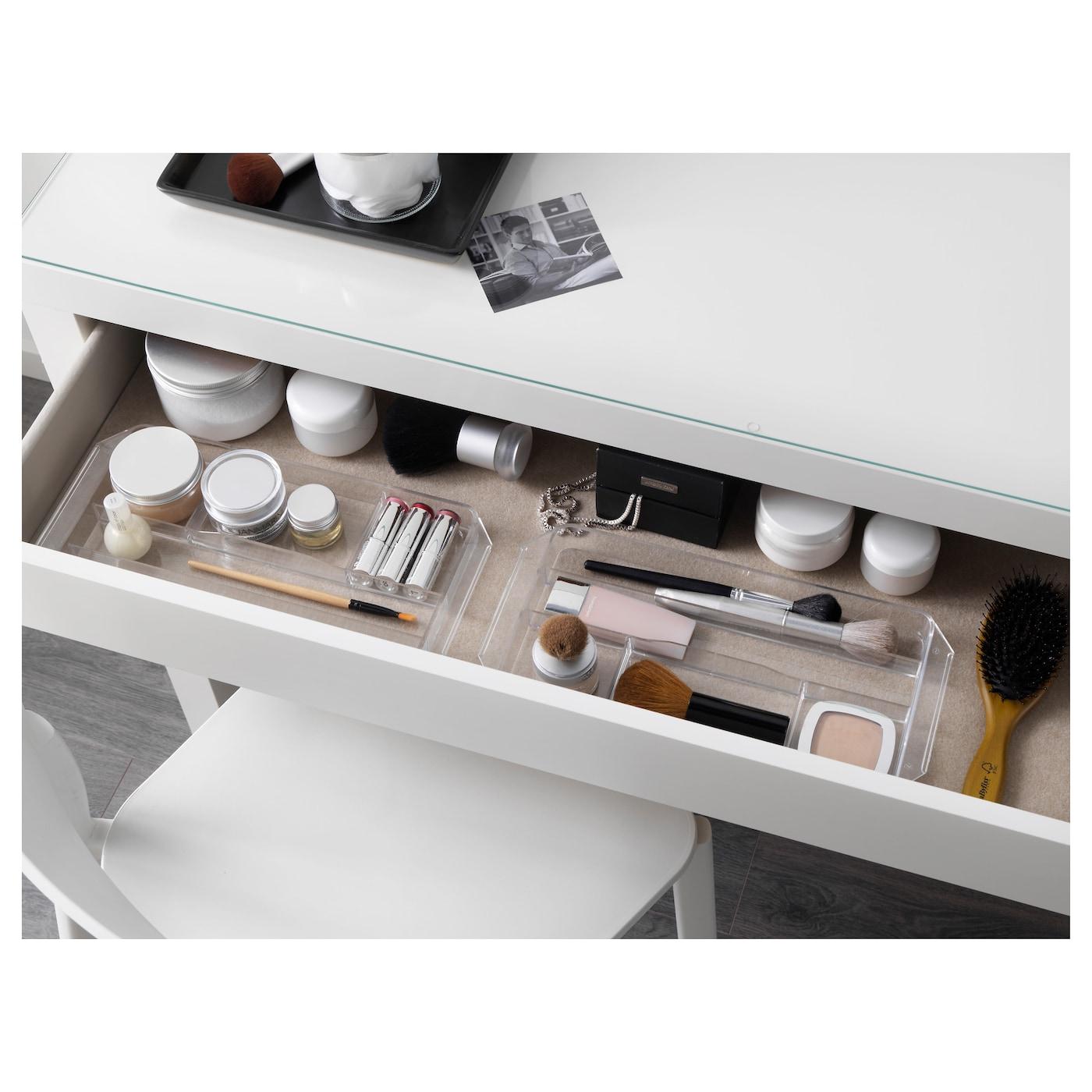 Malm dressing table white 120x41 cm ikea for Ikea table de chevet malm