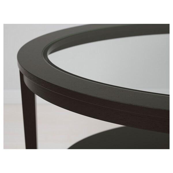 MALMSTA Coffee table, black-brown, 130x80 cm