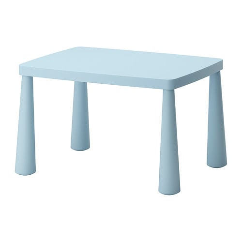 IKEA MAMMUT children's table Made of plastic which makes it easy to carry and move for children.