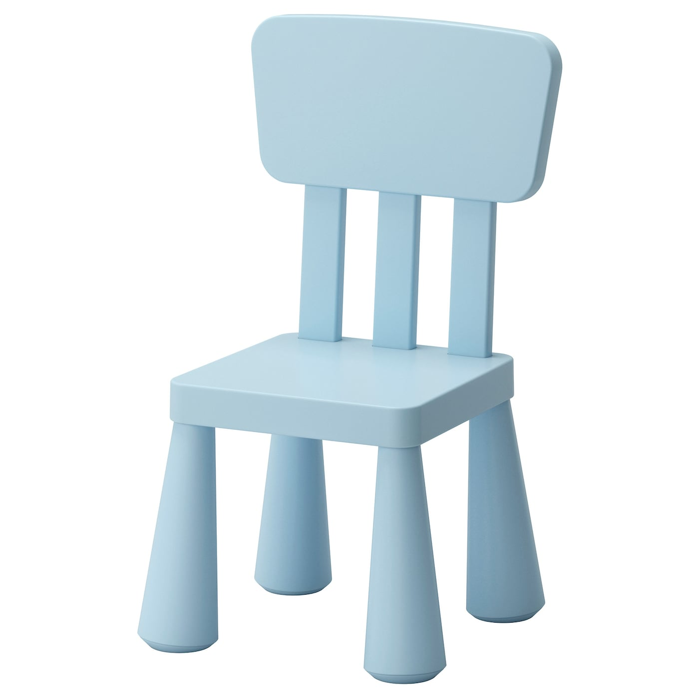 Mammut children 39 s chair in outdoor light blue ikea for Small chair for kid