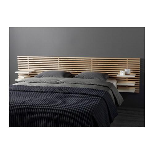 Mandal headboard birch white 240 cm ikea - Ikea tete de lit bois ...