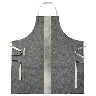 MARIATHERES Apron, grey, 90x92 cm