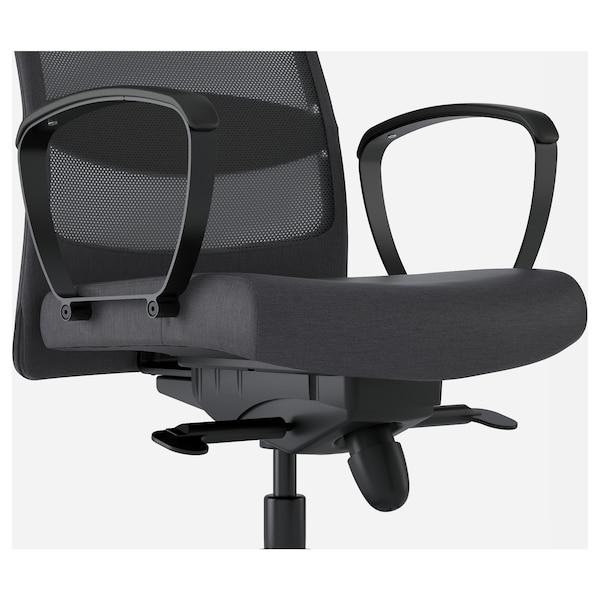 MARKUS Office chair, Vissle dark grey