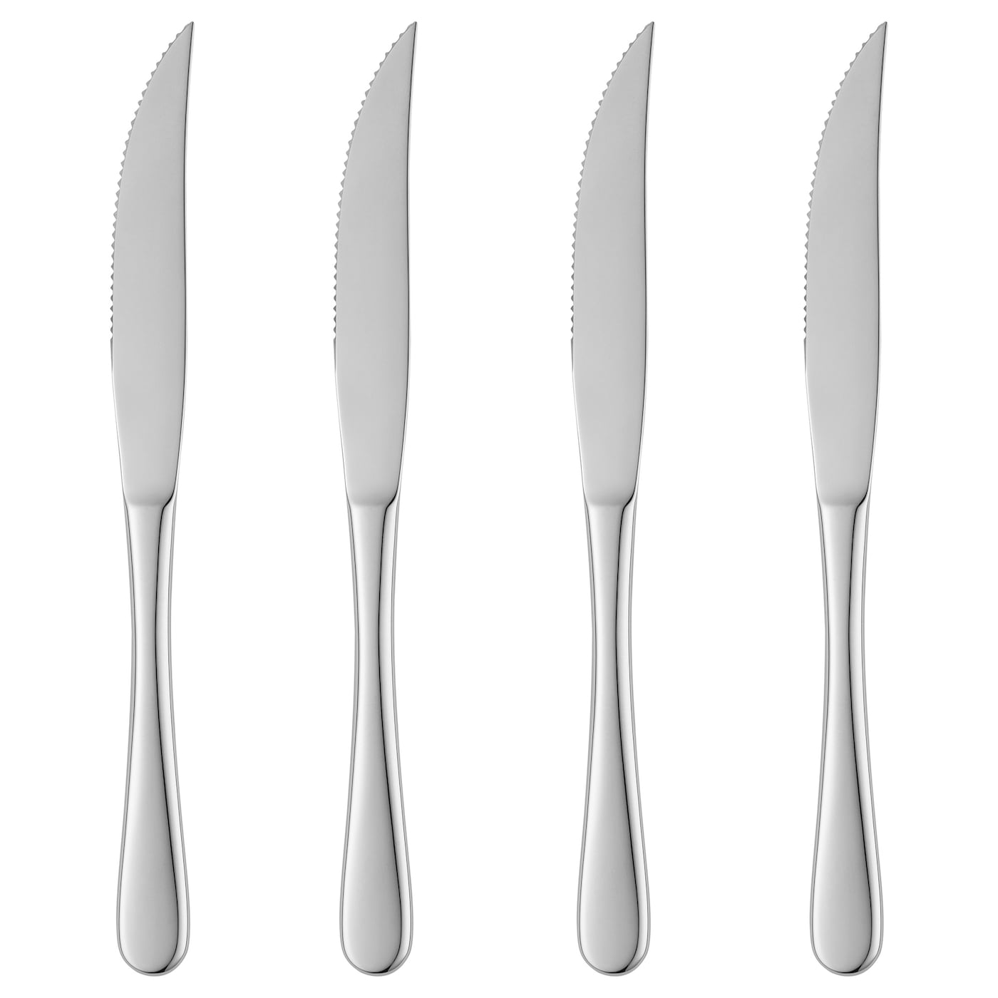 IKEA MARTORP 4-piece knife set Made from stainless steel that is durable and easy to clean.