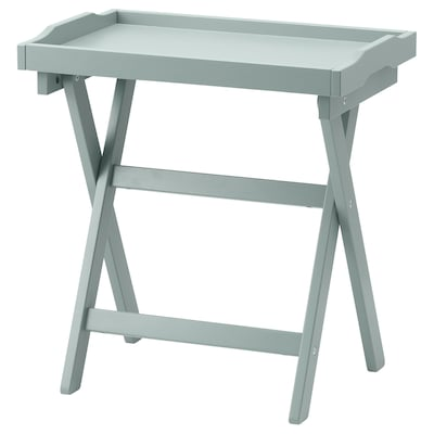 MARYD Tray table, green, 58x38x58 cm