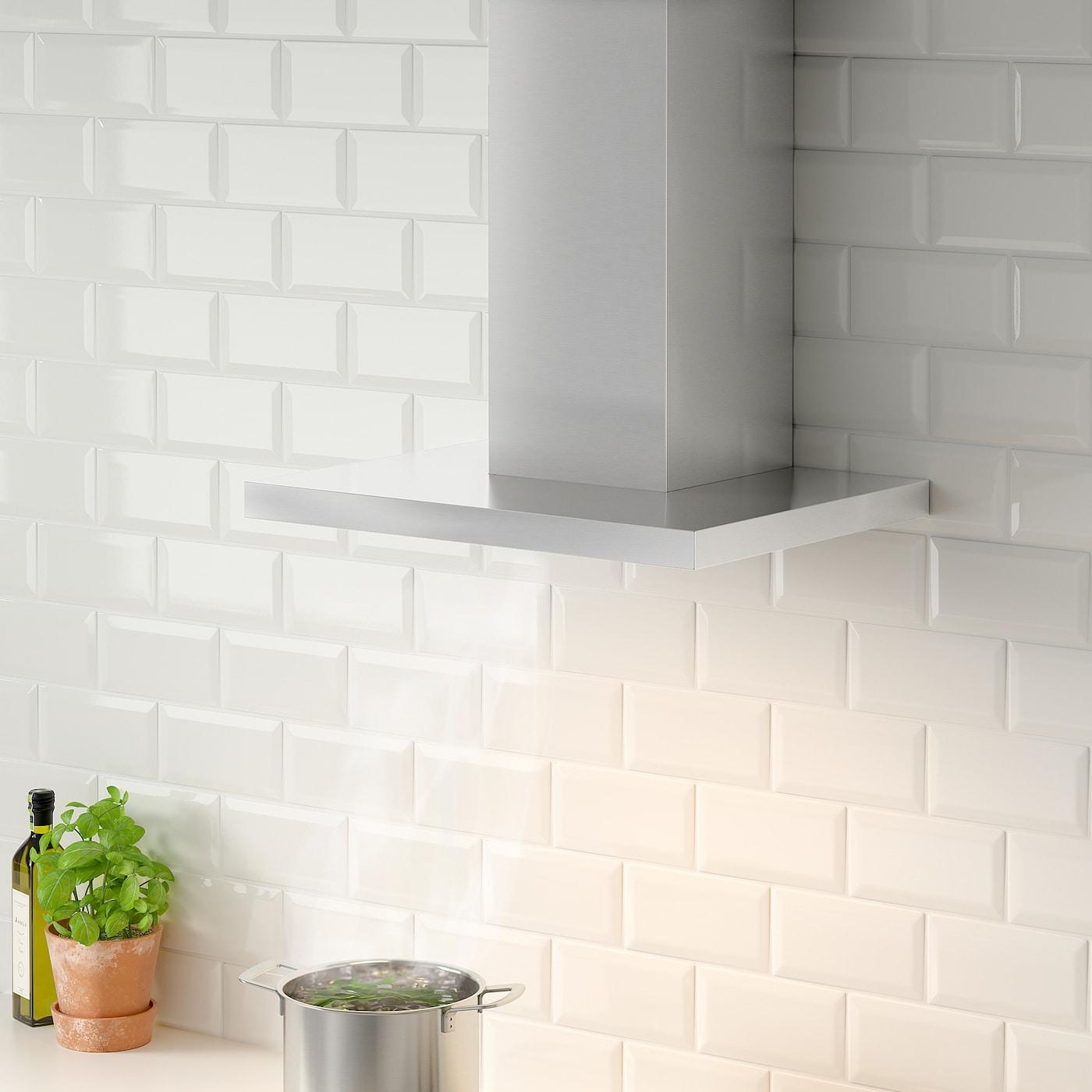MATÄLSKARE Wall mounted extractor hood, stainless steel colour