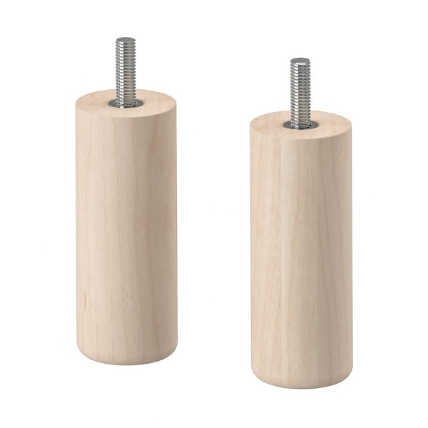 MEJARP Leg, birch, 10 cm