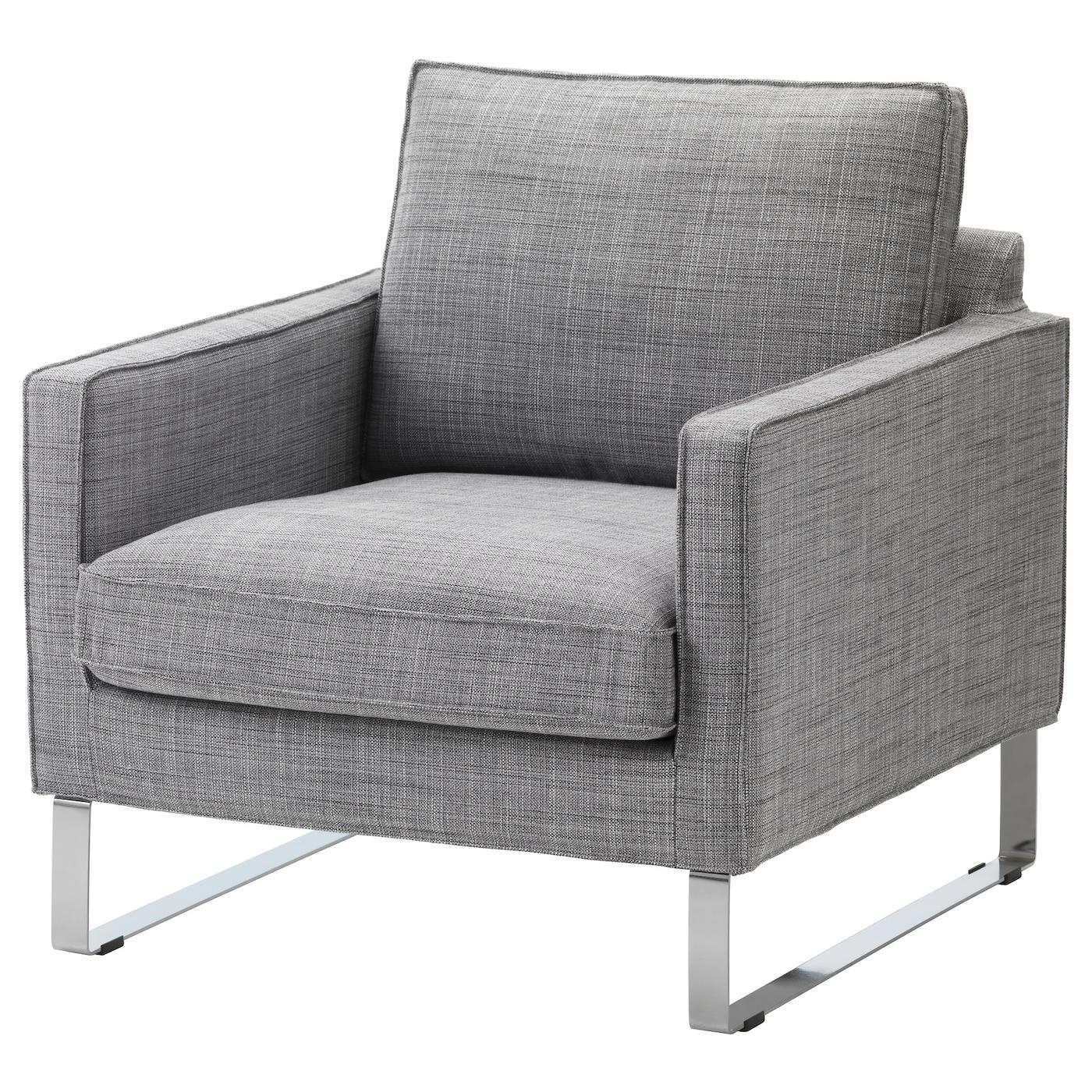 Mellby armchair cover isunda grey ikea - Fauteuil mellby ikea ...