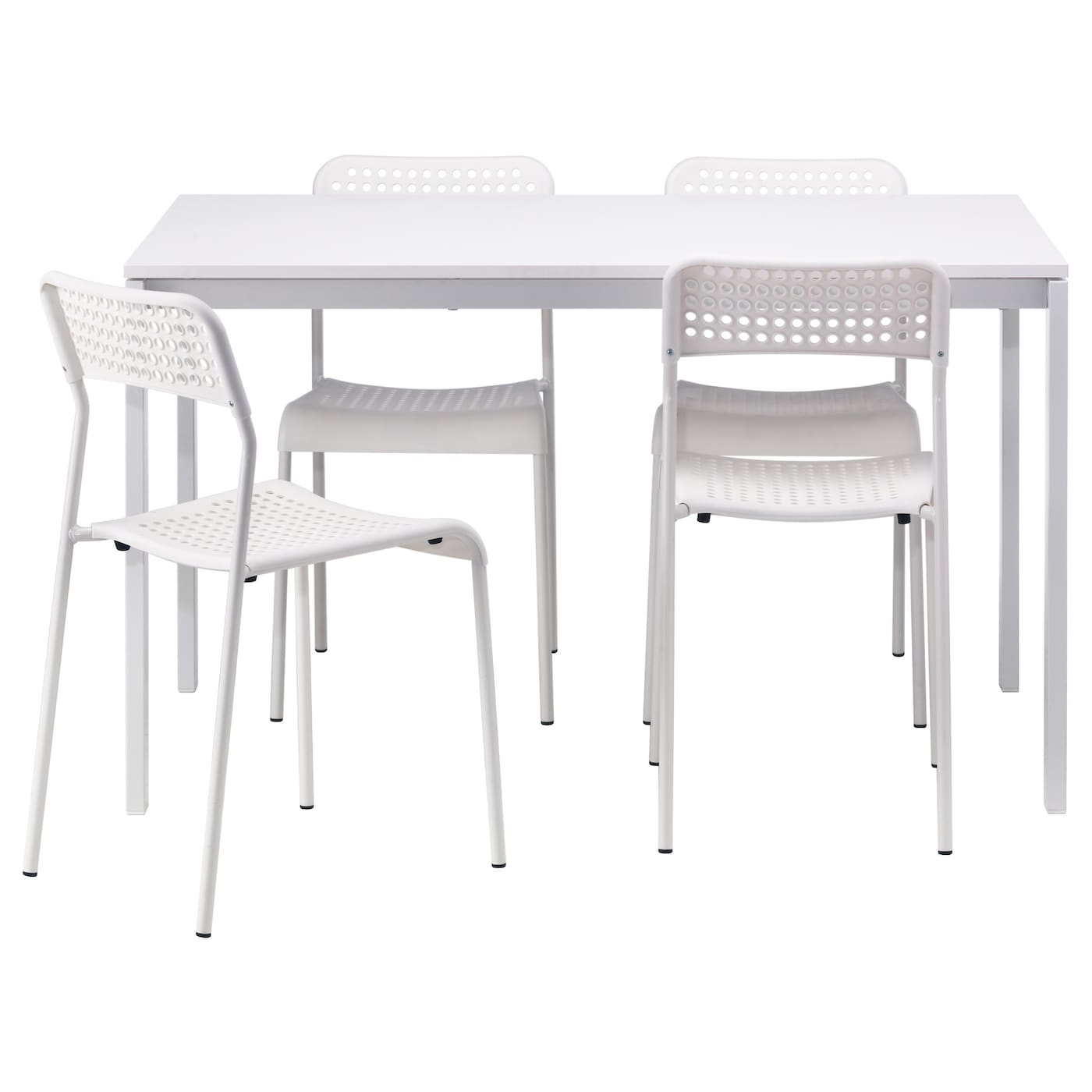IKEA MELLTORP/ADDE table and 4 chairs Seats 4.