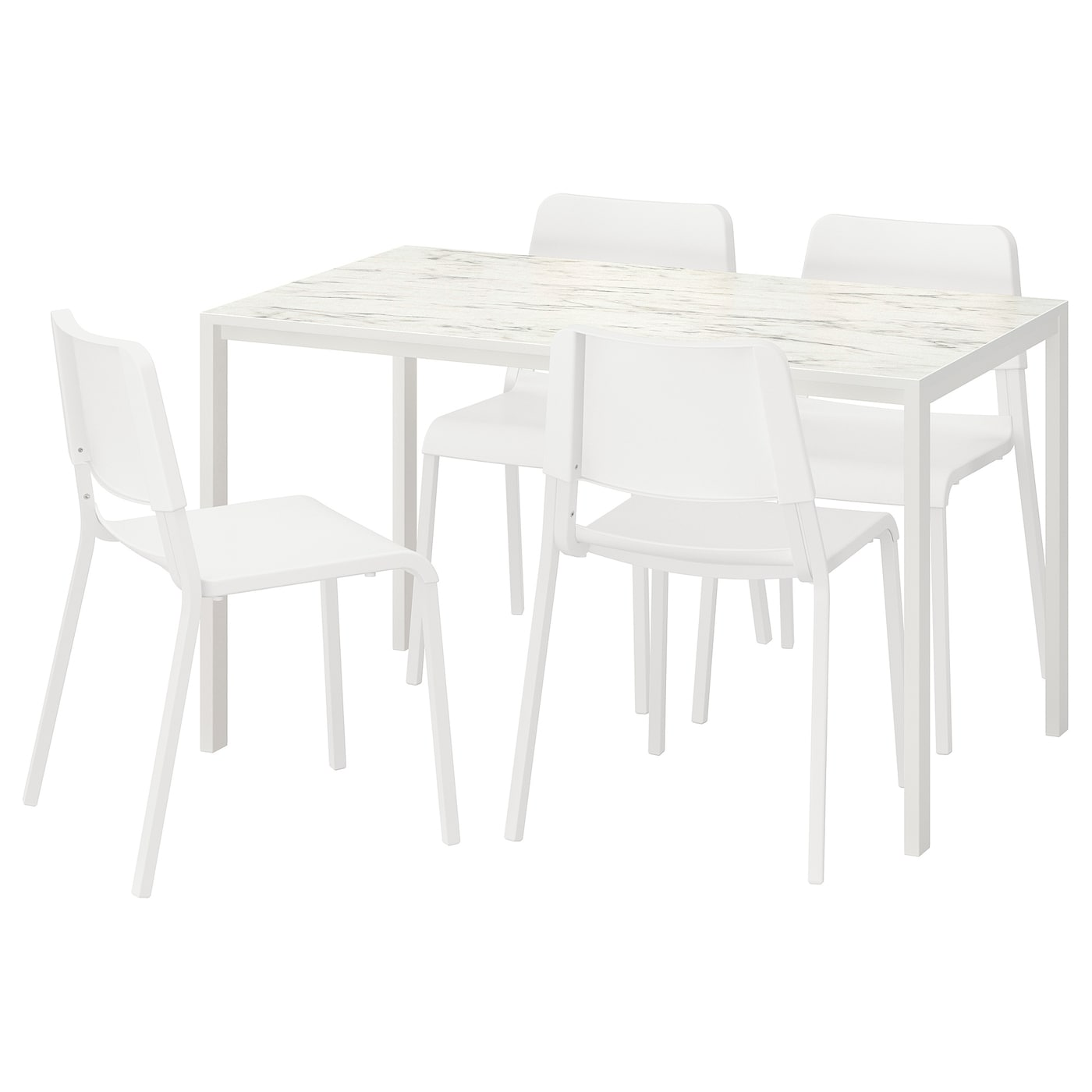 IKEA MELLTORP/TEODORES table and 4 chairs Seats 4.