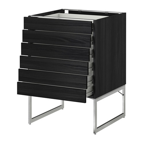 IKEA METOD/FÖRVARA base cabinet 6 fronts/6 low drawers Sturdy frame construction, 18 mm thick.