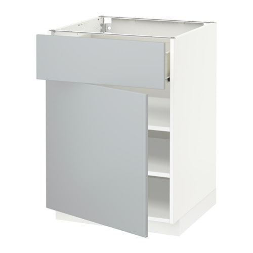 IKEA METOD/FÖRVARA base cabinet with drawer/door Sturdy frame construction, 18 mm thick.