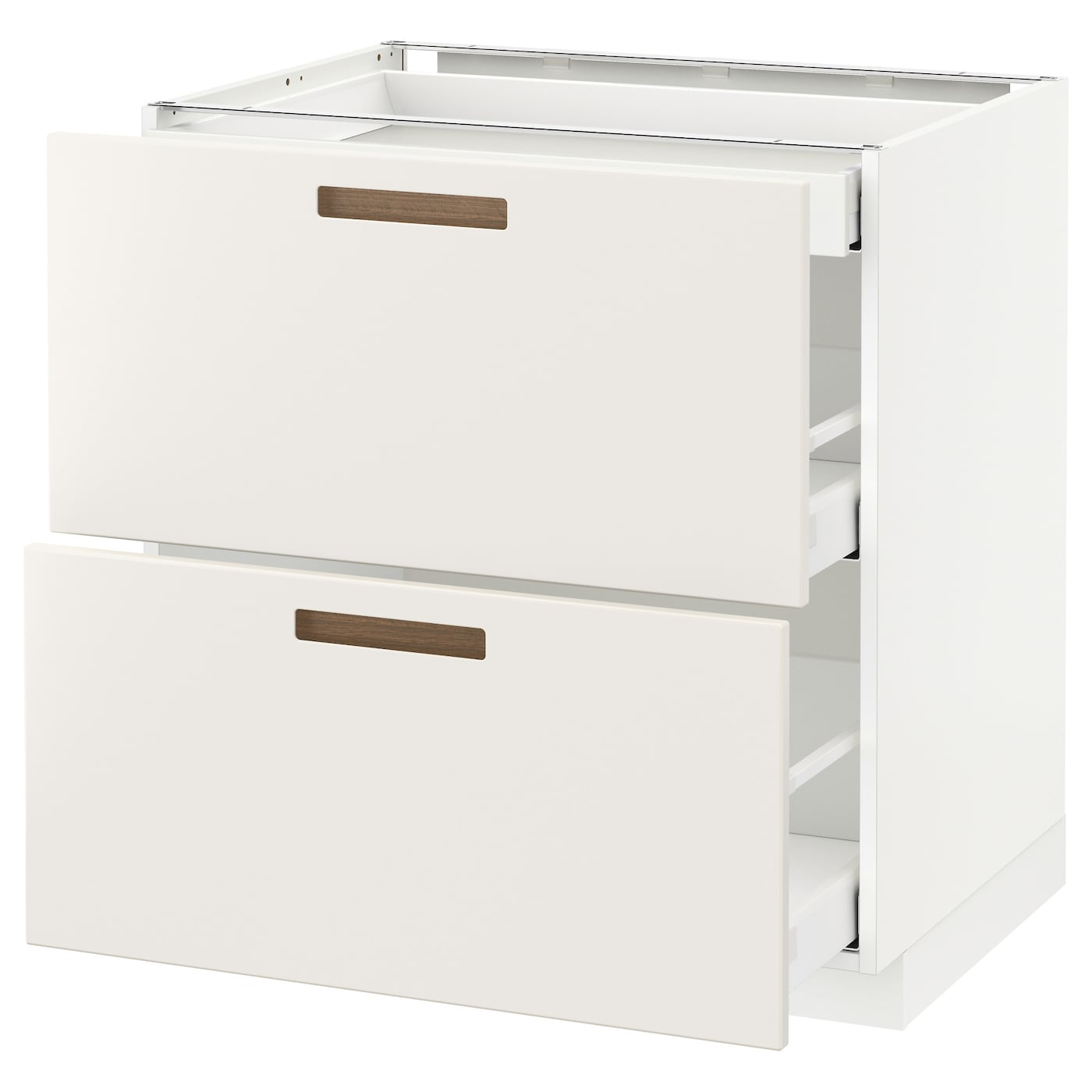IKEA METOD base cab with 2 fronts/3 drawers Smooth-running drawers with stop.