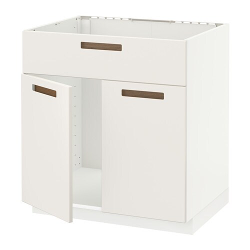 IKEA METOD base cabinet f sink w 2 doors/front Sturdy frame construction, 18 mm thick.