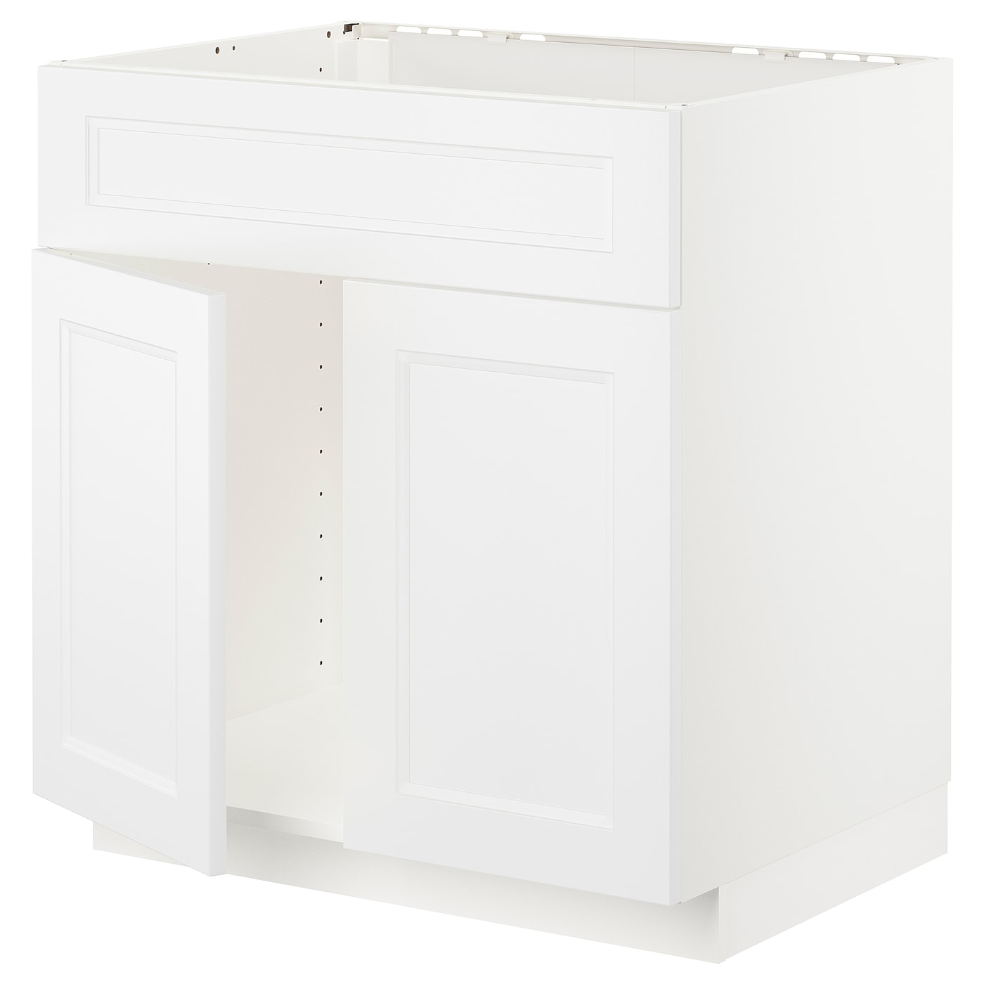 METOD Base cabinet f sink w 2 doors/front - white, Axstad ...