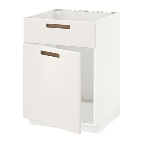 IKEA METOD base cabinet f sink w door/front Sturdy frame construction, 18 mm thick.
