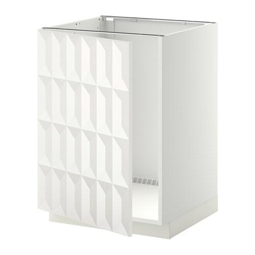 Metod Base Cabinet For Sink Black Järsta Orange 60x60 Cm: METOD Base Cabinet For Sink White/herrestad White 60x60 Cm