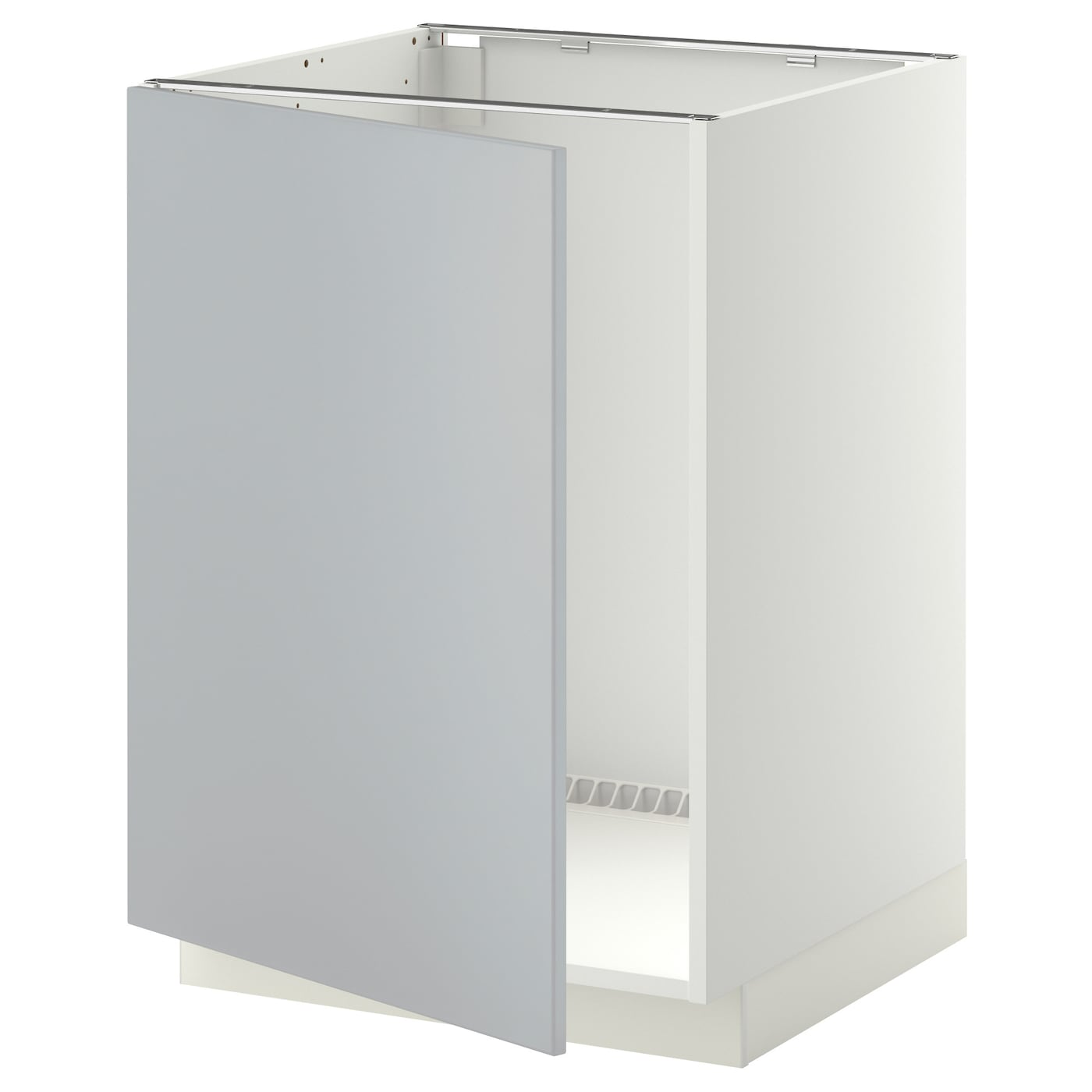 METOD Base cabinet for sink - white, Veddinge grey - IKEA ...