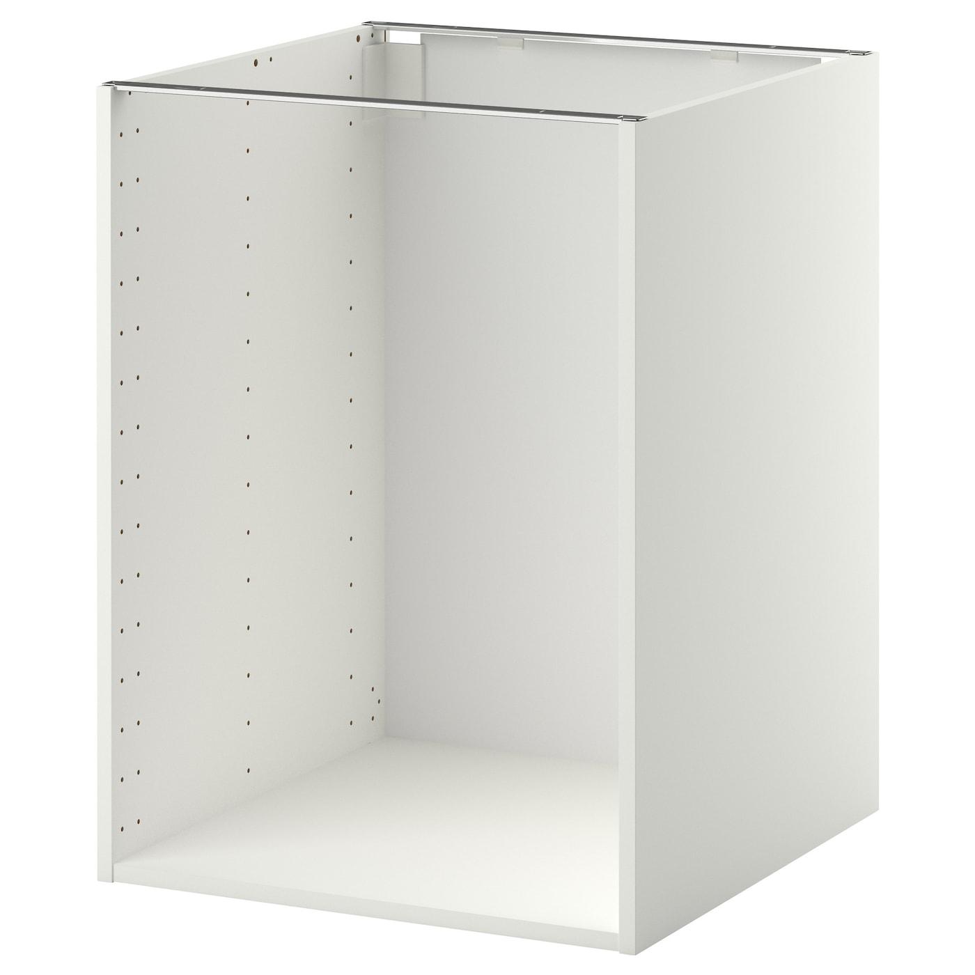 metod base cabinet frame white 60x60x80 cm ikea. Black Bedroom Furniture Sets. Home Design Ideas