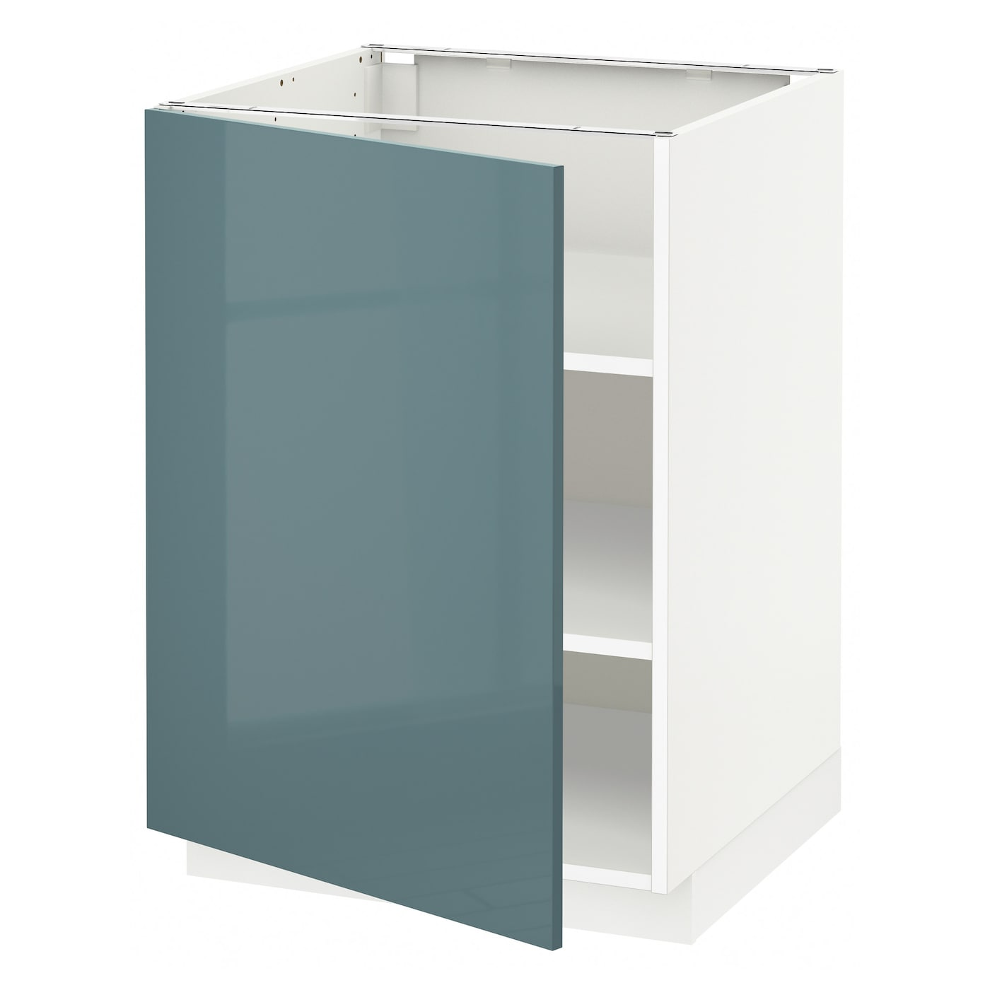 Metod base cabinet with shelves white kallarp grey for Ikea turquoise shelf