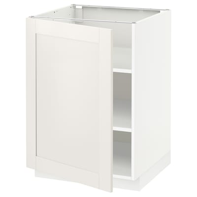 METOD Base cabinet with shelves, white/Sävedal white, 60x60 cm