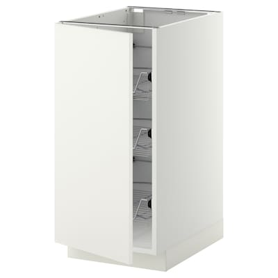 METOD base cabinet with wire baskets white/Häggeby white 40.0 cm 61.6 cm 88.0 cm 60.0 cm 80.0 cm