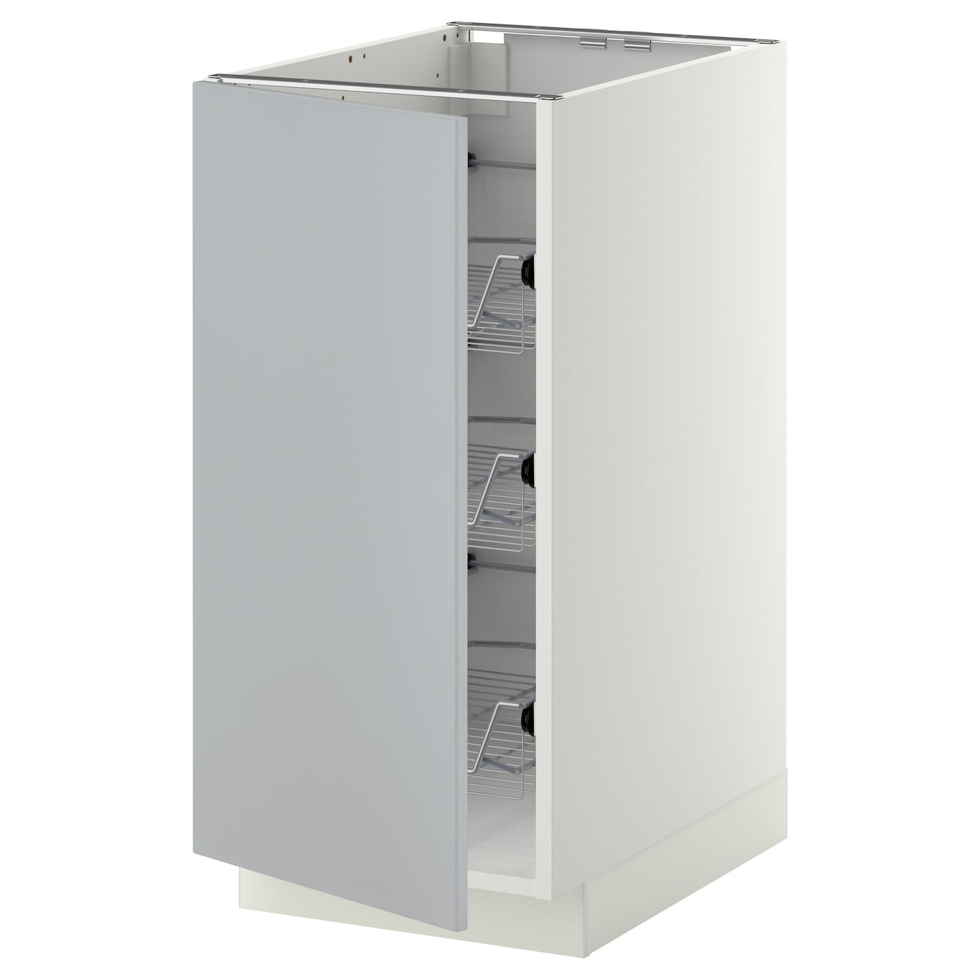 METOD Base cabinet with wire baskets - white, Veddinge ...
