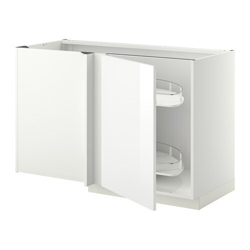 IKEA METOD corner base cab w pull-out fitting Sturdy frame construction, 18 mm thick.