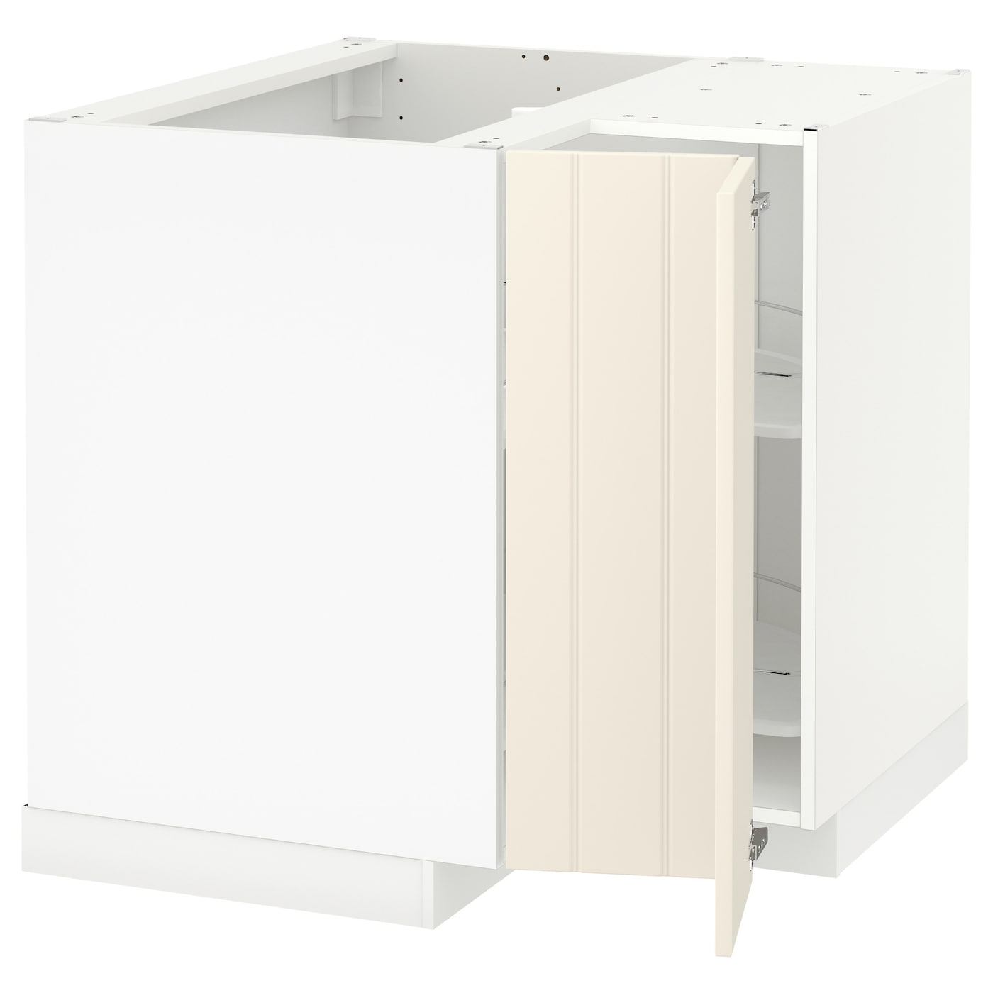 METOD Corner base cabinet with carousel White/hittarp off ...