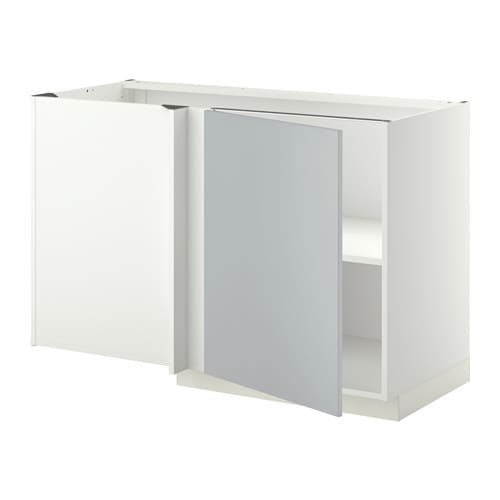 ikea bathroom corner cabinet metod corner base cabinet with shelf white veddinge grey 17531