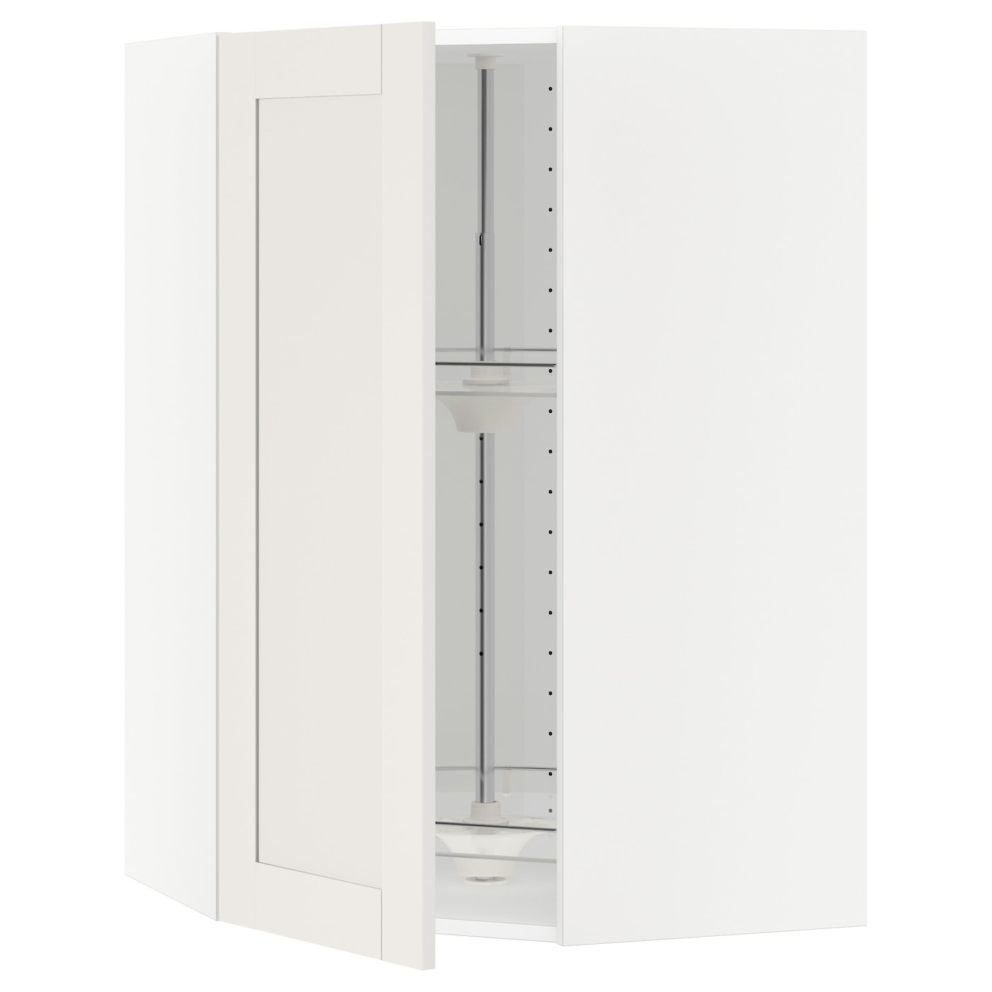 IKEA METOD corner wall cabinet with carousel Sturdy frame construction, 18 mm thick.