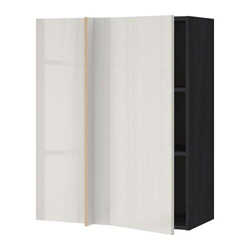Metod Corner Wall Cabinet With Shelves Blackringhult Light Grey 88 X