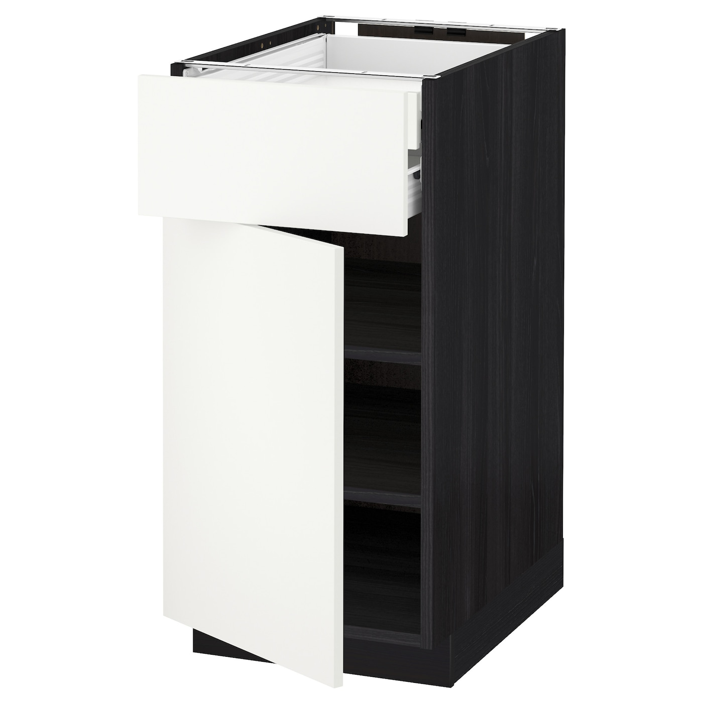 IKEA METOD/FÖRVARA base cab dr/front/shlvs/2 low drwrs Sturdy frame construction, 18 mm thick.